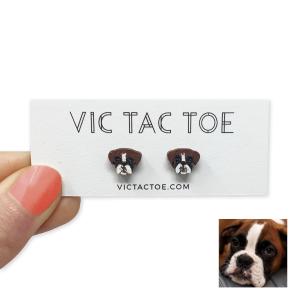 custom boxer earrings