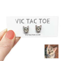 custom cat earrings