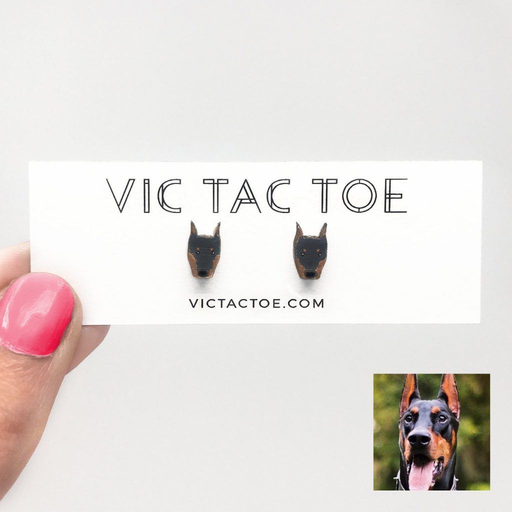 Custom Doberman Pinscher Earrings