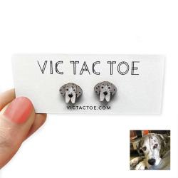 great dane earrings