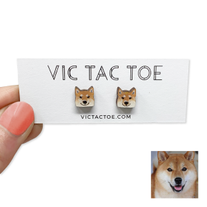 custom shiba inu earrings