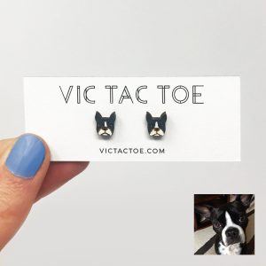 boston terrier earrings