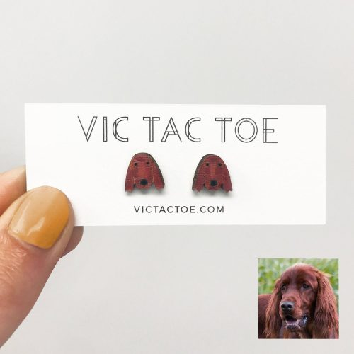 Custom Irish Setter Earrings