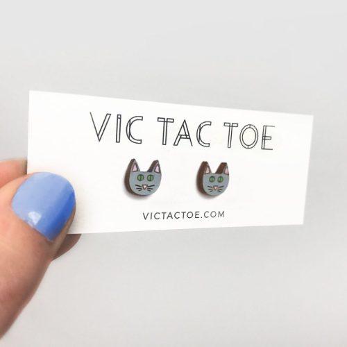 custom cat earrings