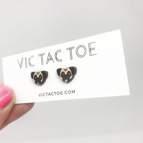 Custom Pug Earrings