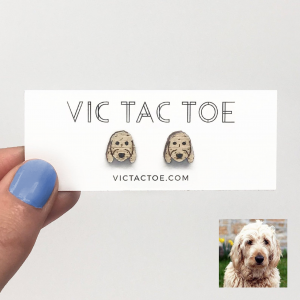 custom golden doodle earrings