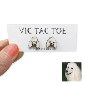custom poodle earrings