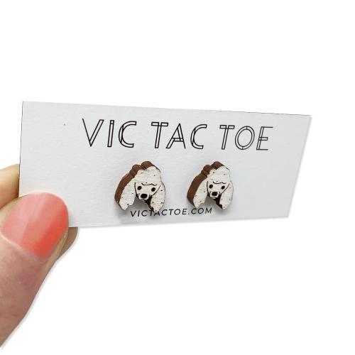 custom poodle earrings