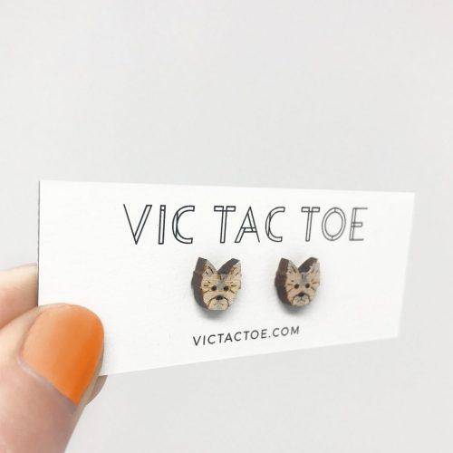 custom yorkie earrings