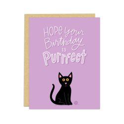 cat birthday card