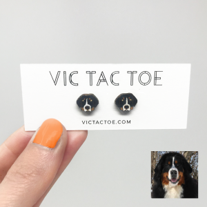 custom bernese mountain dog earrings