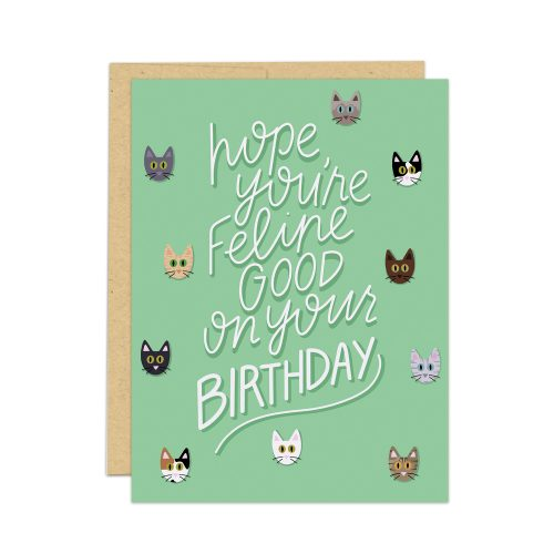 cat lover birthday card