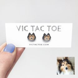 custom sheltie earrings