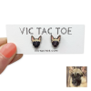 Custom German Shepherd Earrings
