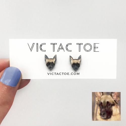 custom german shepard earrings