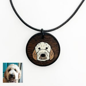 golden doodle necklace, custom necklace, golden doodle jewelry, golden doodle gifts