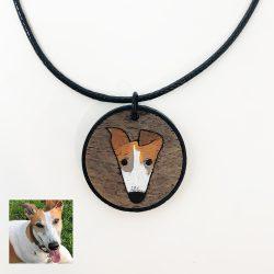 custom greyhound necklace, greyhound necklace, custom greyhound gift