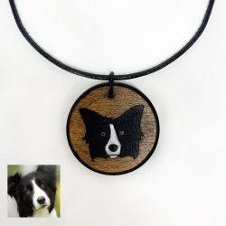 border collie custom necklace, custom dog necklace, border collie necklace