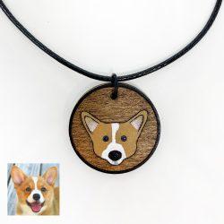 corgi custom necklace, custom dog necklace, corgi necklace
