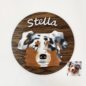 custom dog wood sign