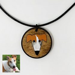 greyhound custom necklace, custom dog necklace, greyhound necklace