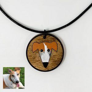 greyhound custom necklace, custom dog necklace, greyhound necklace