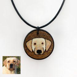 labrador custom necklace, custom lab dog necklace, lab necklace