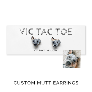 custom mutt earrings