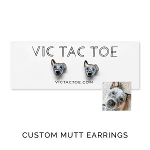 custom mutt earrings