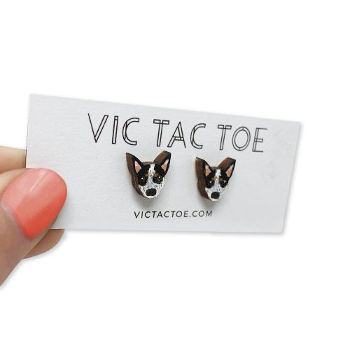 custom australian cattle dog earrings