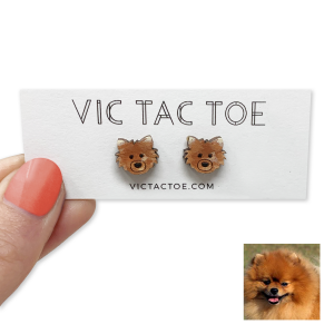 Custom Pomeranian Earrings