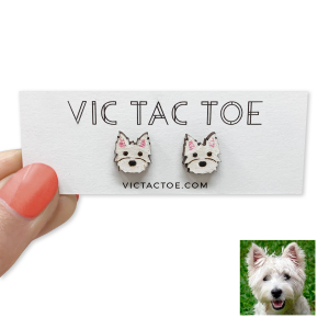 Custom Westie Earrings