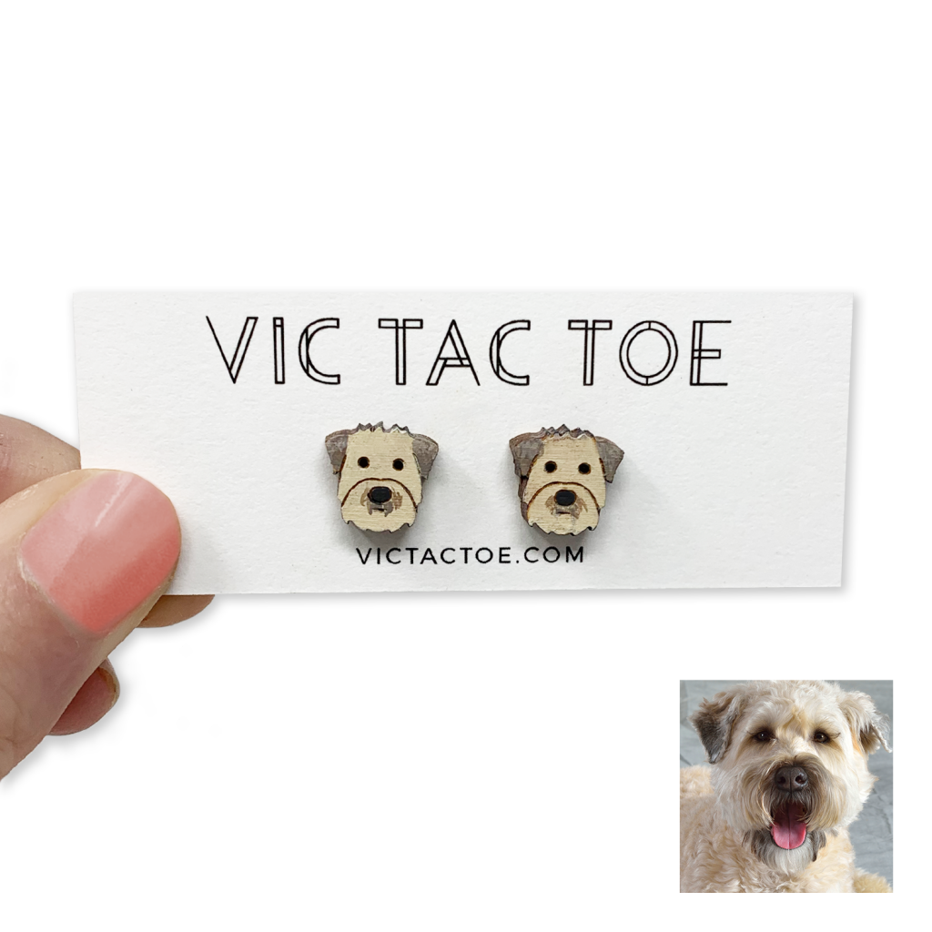 Custom Wheaten Terrier Earrings